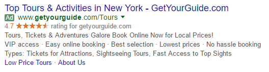 getyourguide google ad